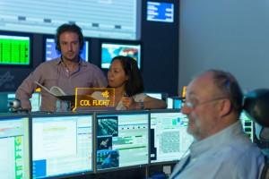 Nell'immagine, il Columbus Control Centre di Oberpfaffenhofen, e la console del Flight Director. Credit: DLR CC-BY (3.0).
