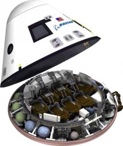 La capsula CST-100 nella versione studiata per il supporto alla ISS