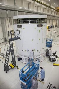 Il Service Module di Orion per la missione EFT-1. Credits: NASA