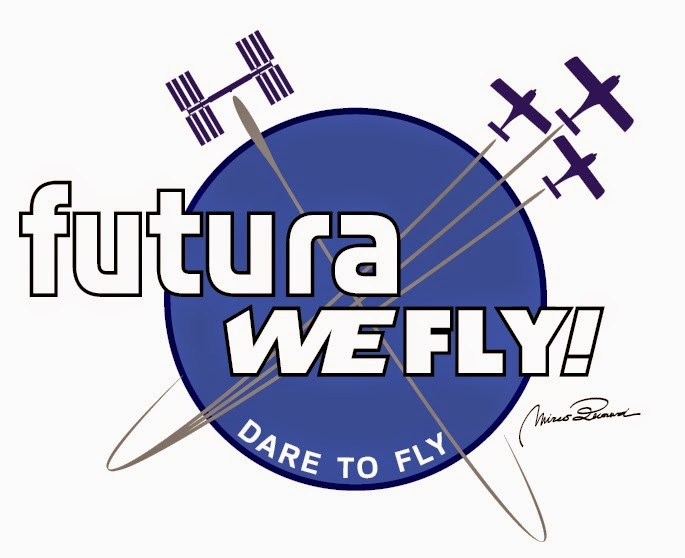 Il logo della partnership fra la missione Furura e WeFly! Team. Credit: WeFly! Team