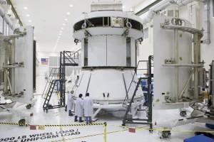 Il mockup del modulo di servizio per la missione EFT-1