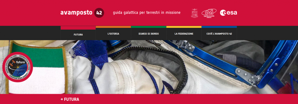 La sezione Futura del sito Avamposto 42. Credit: ESA/ASI