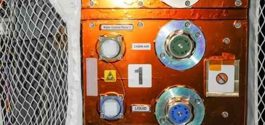 Il pannello di controllo dei liquidi dell'ATV. Credit: NASA