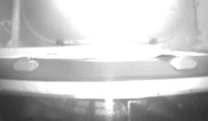 Un'immagine ripresa dalla camera i-Ball ad una quota di 80 km che mostra la distruzione dell'HTV giapponese nel Settembre 2012. (C)  JAXA/IHI