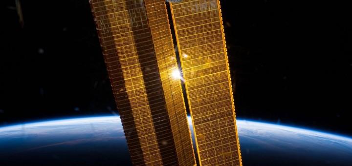 I pannelli solari della ISS. Credit: NASA