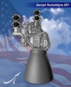 Il motore AR1 di Aerojet Rocketdyne. Credits: Aerojet Rocketdyne