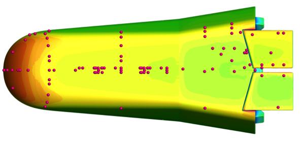 La disposizione dei sensori applicati sullo scudo termico di IXV. Credit: ESA.