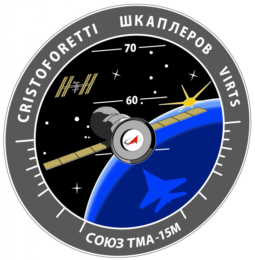 La patch di missione della Soyuz TMA-15M. Credit: Roscosmos/Spacepatches.nl