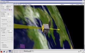 Il minisatellite virtuale Eagle Eye sviluppato dall'Avionics Lab del centro ESTEC di ESA. Credits: ESA