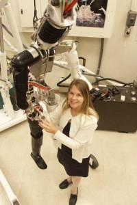 Dava Newman presso il Man Vehicle Lab del MIT (William Litant/MIT)