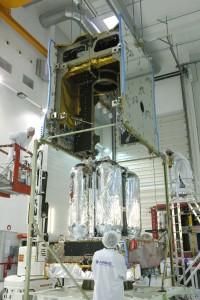 Il satellite Eutelsat-9B/EDRS-A è assemblato negli stabilimenti di Airbus Defence and Space di Tolosa in Francia. Credits: Airbus Defence and Space