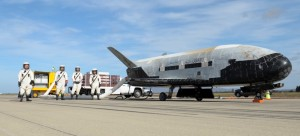 The X-37B Orbital Test Vehicle mission 3 (OTV-3), the Air Force's unmanned, reusable space plane, landed at Vandenberg Air Force Base at 9:24 a.m. Oct. 17, 2014. The OTV-3 conducted on-orbit experiments for 674 days during its mission, extending the total number of days spent on-orbit for the OTV program to 1367 days. The X-37B is the newest and most advanced re-entry spacecraft. Managed by the Air Force Rapid Capabilities Office, the X-37B program performs risk reduction, experimentation and concept of operations development for reusable space vehicle technologies. (Photo credit: Boeing)
