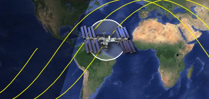 La ground track della ISS. Credit: ISSTracker