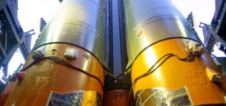 Il razzo Soyuz TMA-15M sulla rampa 31/6 di Baikonur. Credit: Oleg Kononenko