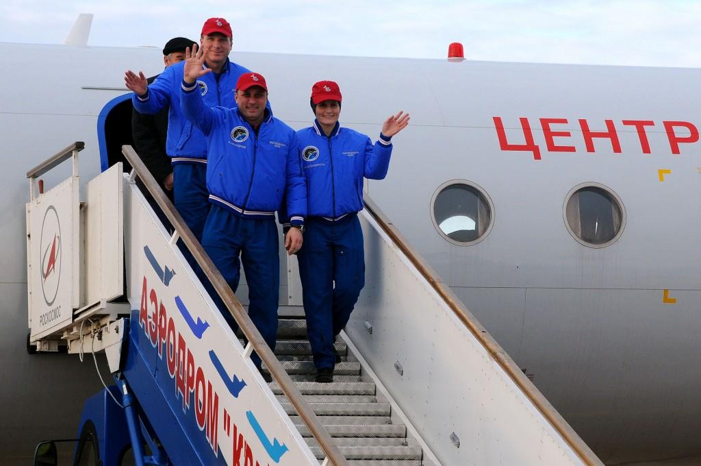 In partenza per Baikonur. Credit: GCTC
