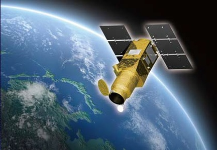 Rappresentazione pittorica del satellite ASNARO-1 (Image: NEC)