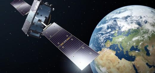 Rappresentazione artistica di un satellite di Galileo in orbita Credits: ESA
