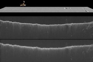 Il segnale del radar SHARAD di MRO influenzato dal passaggio di Siding Spring. Image credit: JPL/NASA/Univ. of Rome/ASI