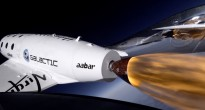 Lo SpaceShipTwo nel terzo volo supersonico. Image credit: Virgin Galactic.