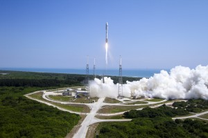 A United Launch Alliance (ULA) Atlas V rocket successfully launched the AFSPC-5 satellite for the U.S. Air Force from Space Launch Complex-41. This is ULA's fifth launch in 2015 and the 96th successful launch since the company was formed in December 2006.
