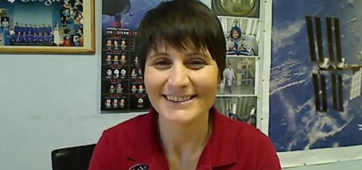 Un momento dell'intervista di AstronautiCAST di Samantha Cristoforetti