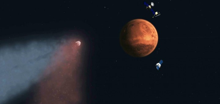 Siding Spring in avvicinamento a Marte