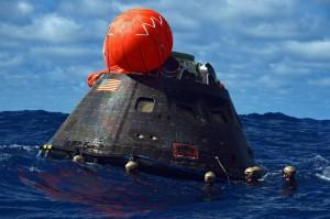 Il recupero della capsula Orion EFT-1. Credit: NASA