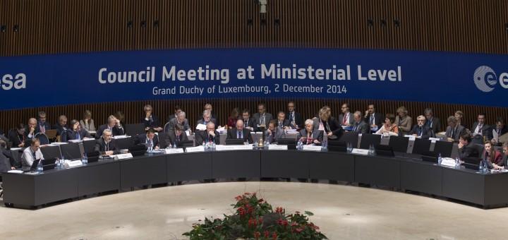 Riunione Ministeriale ESA, Lussemburgo, 2 dicembre 2014 Credits: ESA