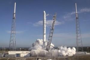 Test statico del vettore Falcon 9 - fonte: SpaceX