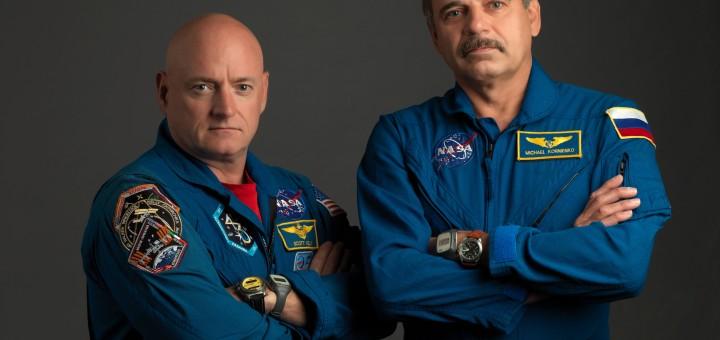 Scott Kelly e Mikhail Kornienko Credits: NASA