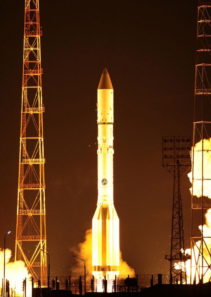 Il lancio di Yamal 401 con un Proton-M. Credit: Roscosmos