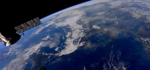 L'Italia vista dalla ISS fotografata da Samantha Cristoforetti. Credit: ESA/NASA