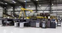 Il secondo esemplare dello SpaceShipTwo in corso di completamento. Credits: Virgin Galactic