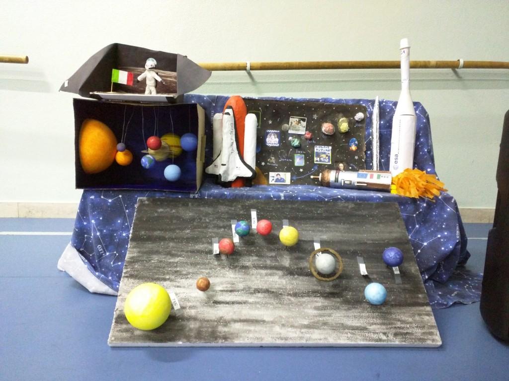 Modelli sullo spazio e l'astronomia realizzati dagli alunni della scuola Locatelli-Oriani di Milano. Credit: Paolo Amoroso
