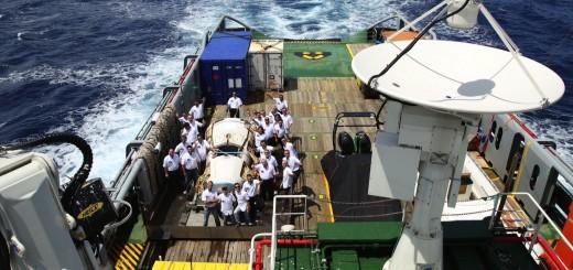 IXV a bordo della nave Nos Aries dopo il recupero. Image Credit: ESA