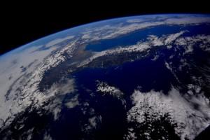 In volo sopra l'Italia in questo bel pomeriggio di febbraio