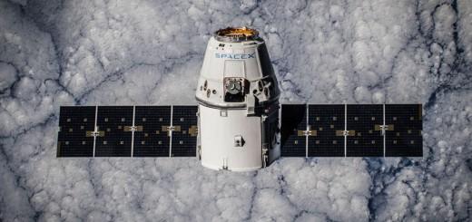 La Dragon CRS-5 che è rimasta attraccata alla ISS fra gennaio e febbraio 2015. Credit: SpaceX