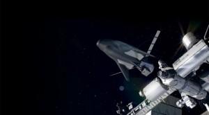 Una raffigurazione del DC cargo attraccato all'ISS (fonte: SNC)