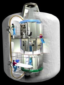Uno spaccato del modulo TransHab così come originariamente immaginato da NASA - Credits: NASA