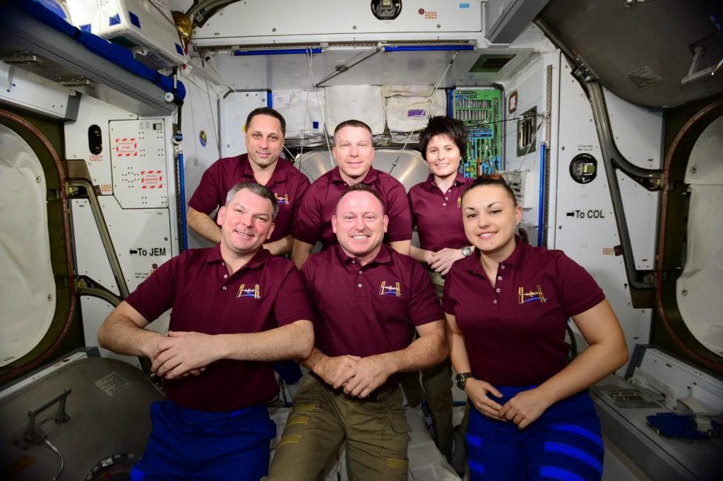 L'equipaggio della Expedition 42. Credit: ESA/NASA