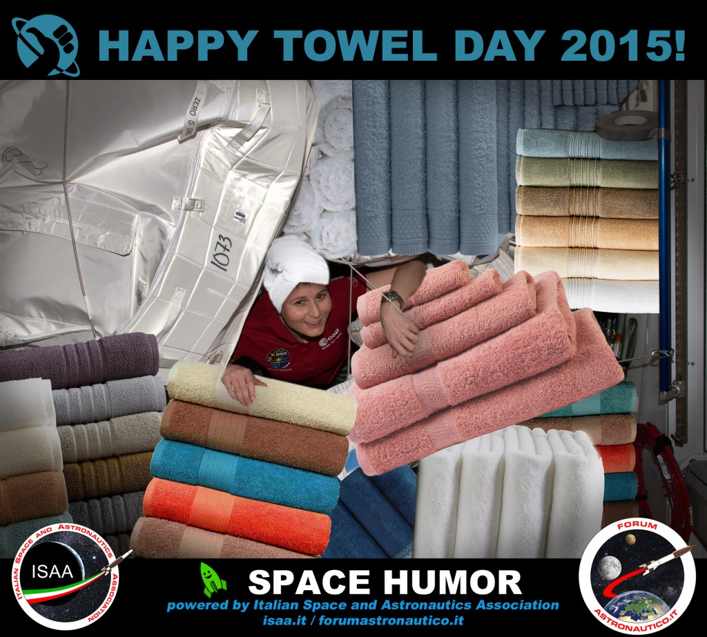 Towel Day 2015. Credit: Riccardo Rossi