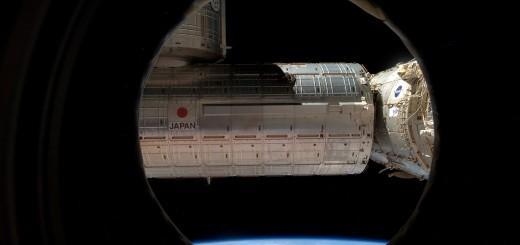 La vista dal boccaporto anteriore del Nodo 3 prima dell'aggancio del modulo PMM. Credit: ESA/NASA