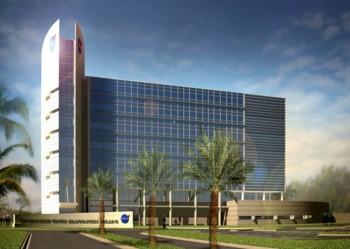 Una ricostruzione artistica del progetto del nuovo Headquarter Building al KSC. Credits: NASA