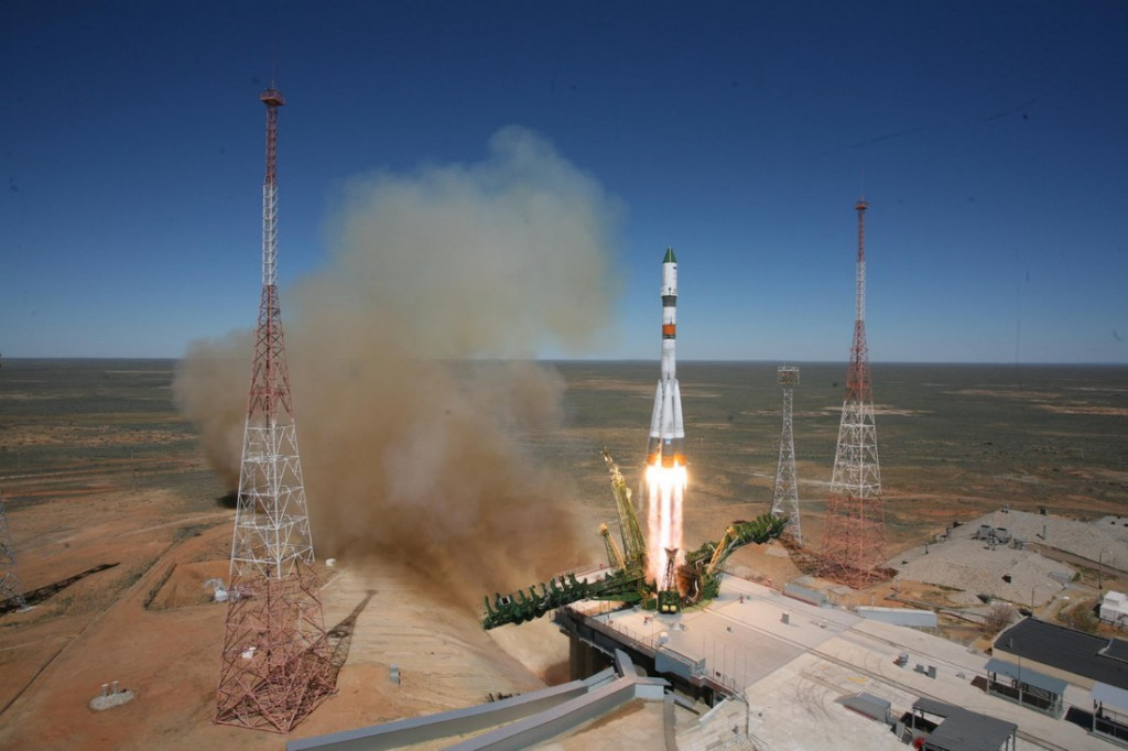 Il lancio della Progress M-27M. Credit: Roscosmos/Tsenki
