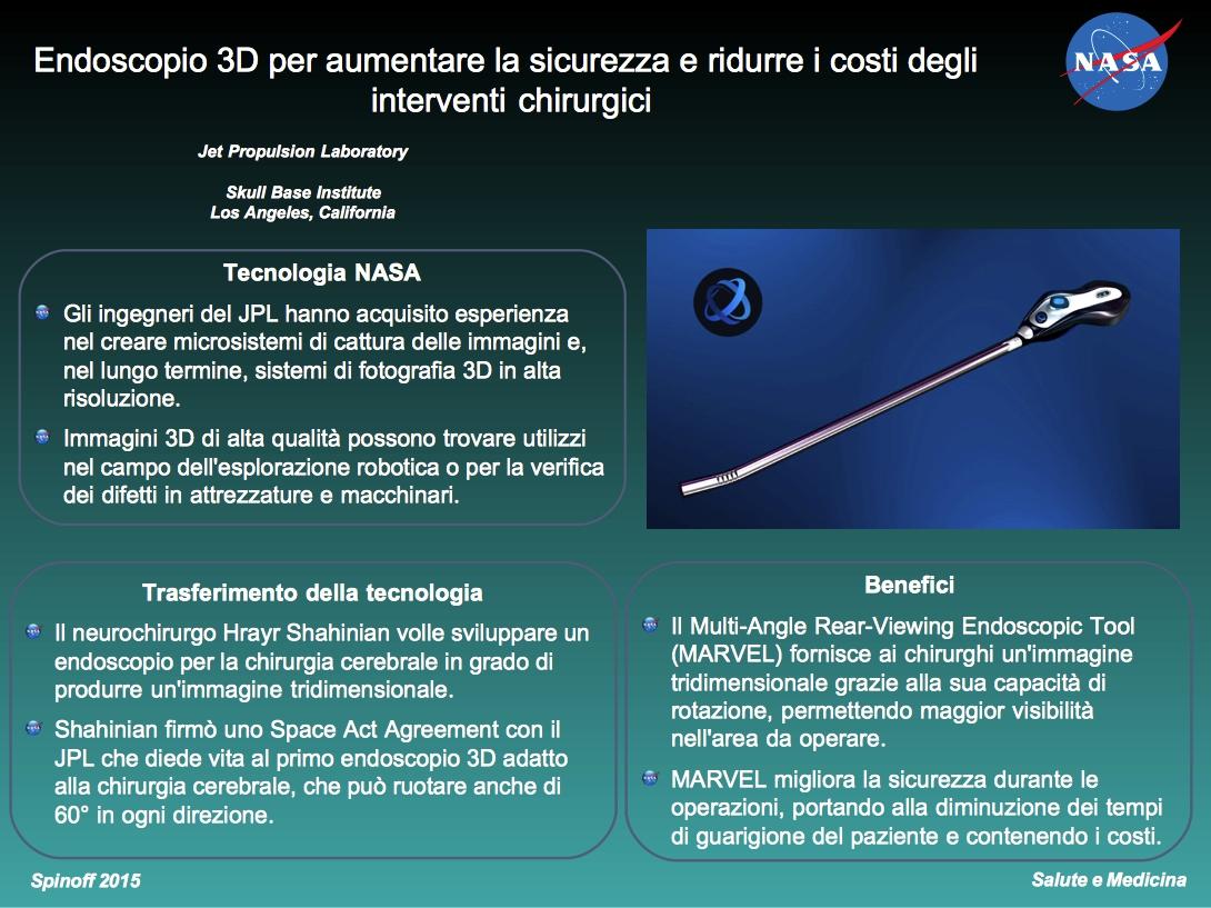 Endoscopio 3D per interventi chirurgici