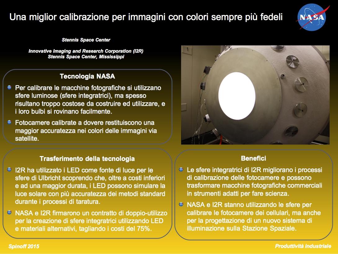 Miglior calibrazione delle fotocamere grazie ai LED @NASA / Veronica Remondini