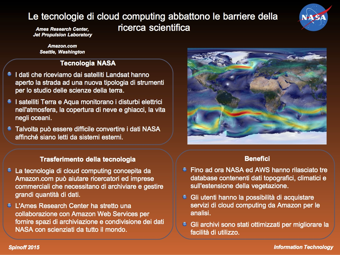 Le tecnologie di cloud computing abbattono le barriere della ricerca scientifica - presentazione © NASA / Veronica Remondini