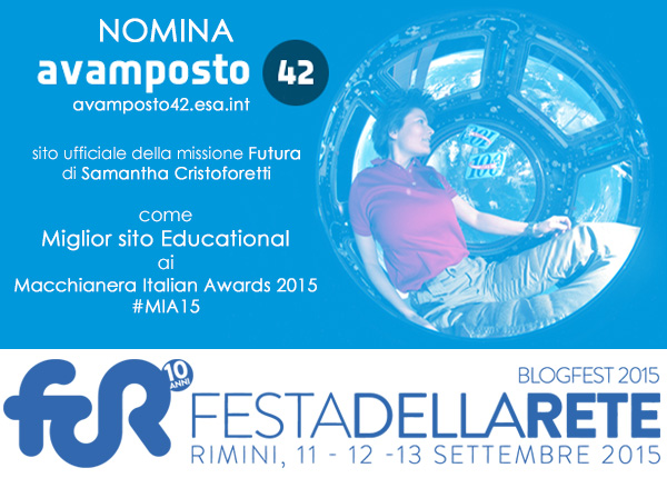 Il banner per la nomination di Avamposto 42 ai MIA 2015. Credit: Riccardo Rossi