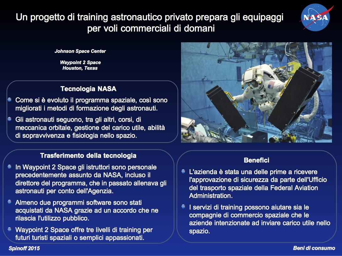 Waypoint 2 Space: il training astronautico per gli equipaggi di domani. © NASA / Veronica Remondini