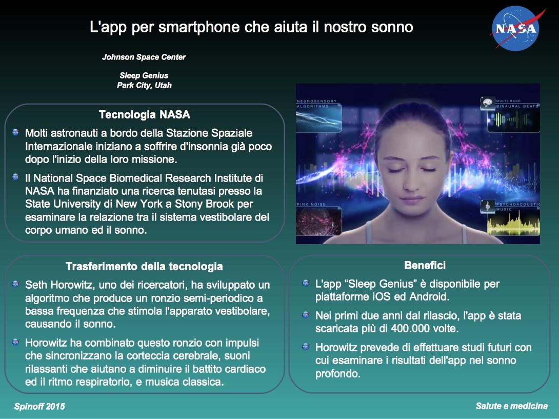 Sleep Genius, l'app che ci aiuta a dormire meglio © NASA / Veronica Remondini